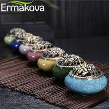 ERMAKOVA керамическая курильница для благовоний держатель для палочки конус катушки благовония с пепельницей украшение дома