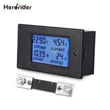 Herorider DC 6.5-100V 0-100A LCD Digital Display Voltmeter with 100A Shunt Power Energy Meter Multimeter Amperage Ammeter