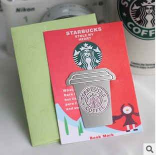 Creative Starbucks Metal Bookmarks Collector's Edition Bookmark For Books Mark Clips Office Teacher Gift Kids School Supplies 5pack 10pcs hot sale new cute silicone finger pointing bookmark book mark office supply funny gift