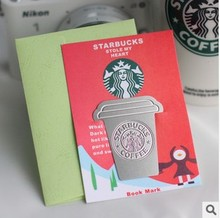 Creative Starbucks Metal Bookmarks Collector's Edition Bookmark For Books Mark Clips Office Teacher Gift Kids School Supplies(China)