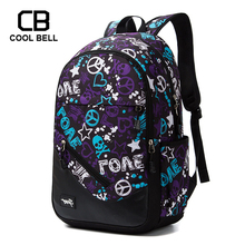 Korea Style Students School Backpack For Boys Oxford Waterproof Laptop Bags Girls Print Schoolbag