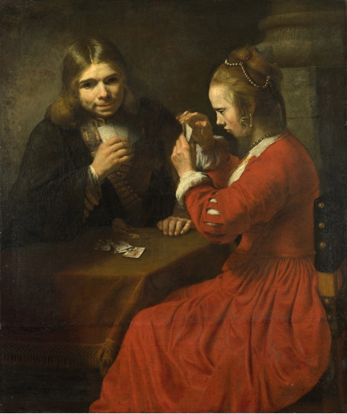 100% ручная работа, картина маслом, Репродукция на льняном холсте, a young man and a girl playi от Rembrandt Van Rijn, картина маслом ручной работы