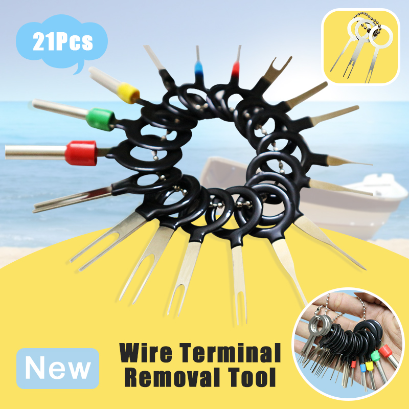 21Pcs/Set New Car Terminal Removal Electrical Wiring Crimp Connector Pin Extractor Kit Automobiles Repair Hand Tools