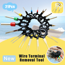 21Pcs/Set New Car Terminal Removal Electrical Wiring Crimp Connector Pin Extractor Kit Automobiles Terminal Repair Hand Tools стоимость