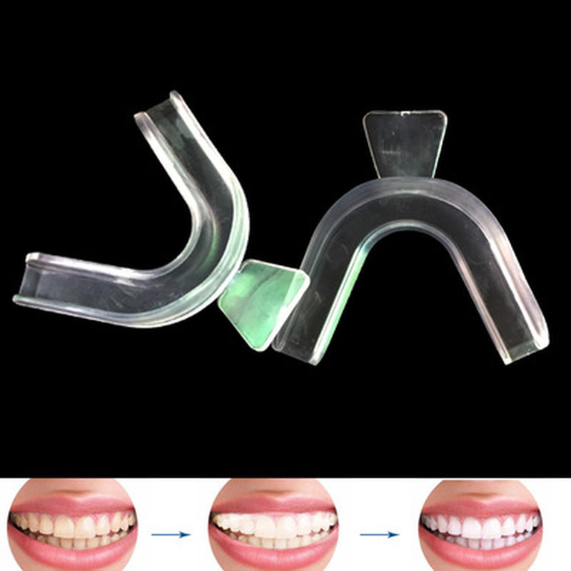2PCS Thermoforming Moldable Mouth Dental Teeth Whitening Trays Bleaching Molding Trays Oral Care Gel Mouthguard Tray
