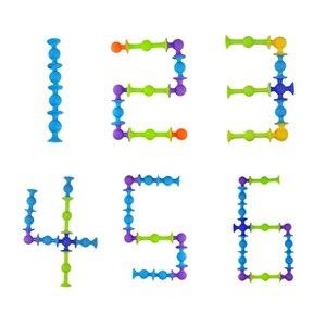 Image 5 - جديد لينة اللبنات الاطفال DIY بها بنفسك البوب squigz مصاصة مضحك سيليكون كتلة نموذج ألعاب البناء الهدايا الإبداعية للأطفال الصبي