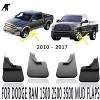 4 шт./компл. черный для: Dodge Ram 1500 2500 3500 Брызговики 2009-2017 Брызговики