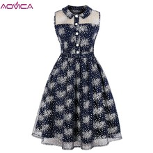 Aovica S-4XL Plus Size Summer Retro Female Elegant Shirt Dress Women Office Mesh Vintage Turn Down Collar Dresses Vestidos