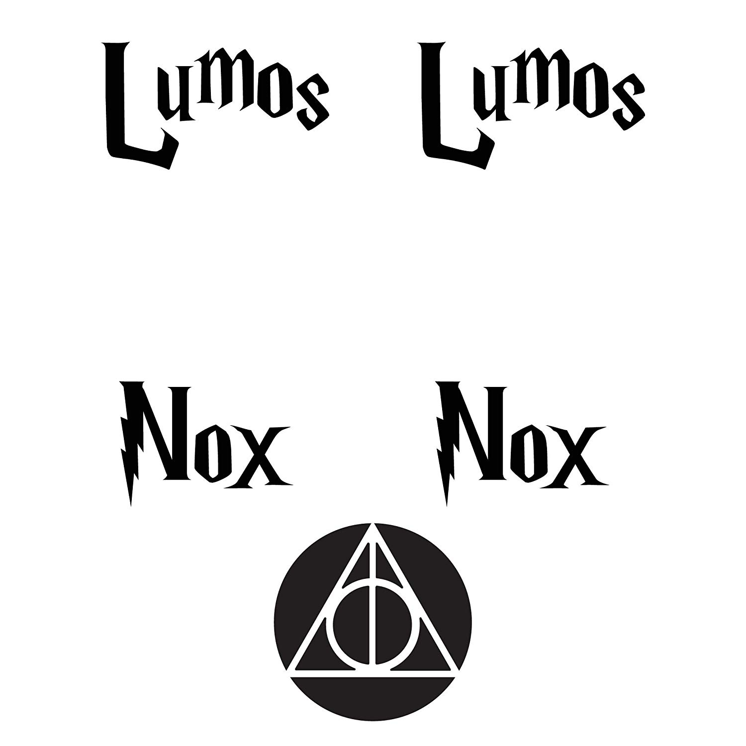 Graphics Lumos Nox Inspired 2X Light Switch and Bonus 2 Deathly Hollows Decal Sticker