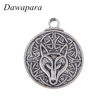 Dawapara Teen Wolf Irish Knot Necklaces & Pendants Coin Vintage Charms Accessories Men's Fashion Metal Tags Jewelry