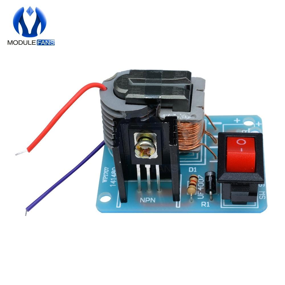 15KV High Frequency DC High Voltage Arc Ignition Generator Inverter Boost  Step Up 18650 DIY Kit U Core Transformer Suite 3 7V
