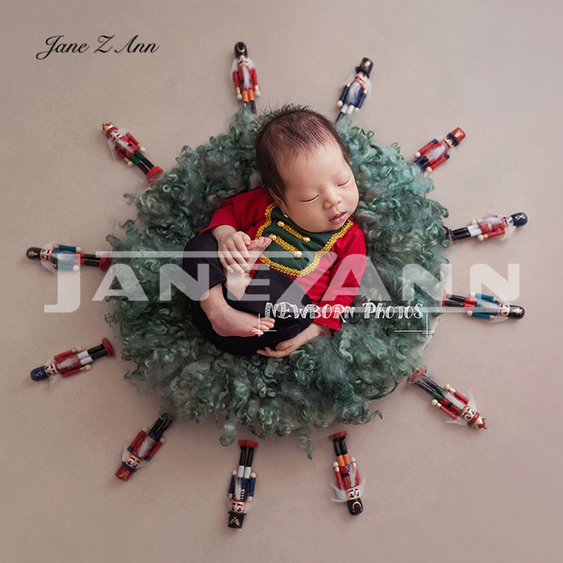 Jane Z Ann Newborn baby photo props British European American style retro Nutcracker soldier photography theme costume 1