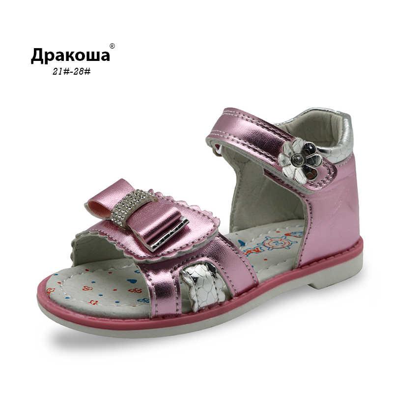 Apakowa/Новинка 2019 года; детская летняя обувь; сандалии для девочек с поддержкой арки; стразы принцессы; дизайнерские детские сандалии; ортопедическая обувь для девочек
