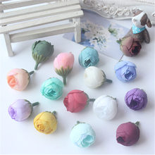 6PCS wreath material European oil painting small tea buds simulation roses package Sen Department of hand accessories