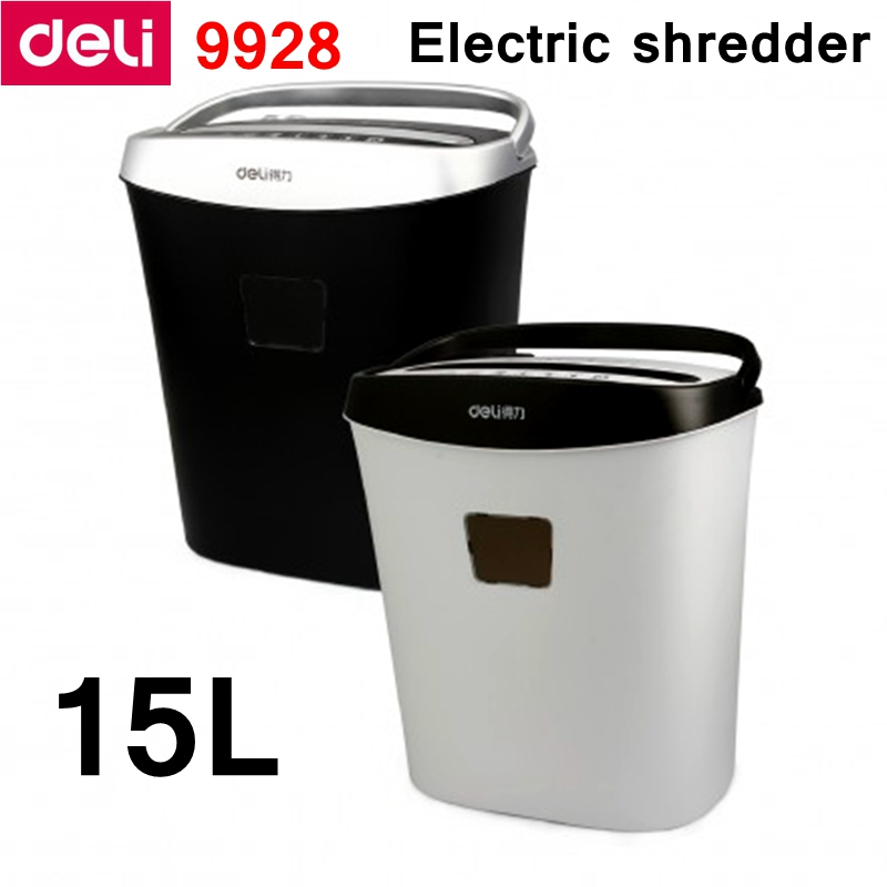 Deli 9928 Electric shredder 2017 New type 15L volume 220-230VAC/50Hz Power saving auto stop Paper shredder Drawer type