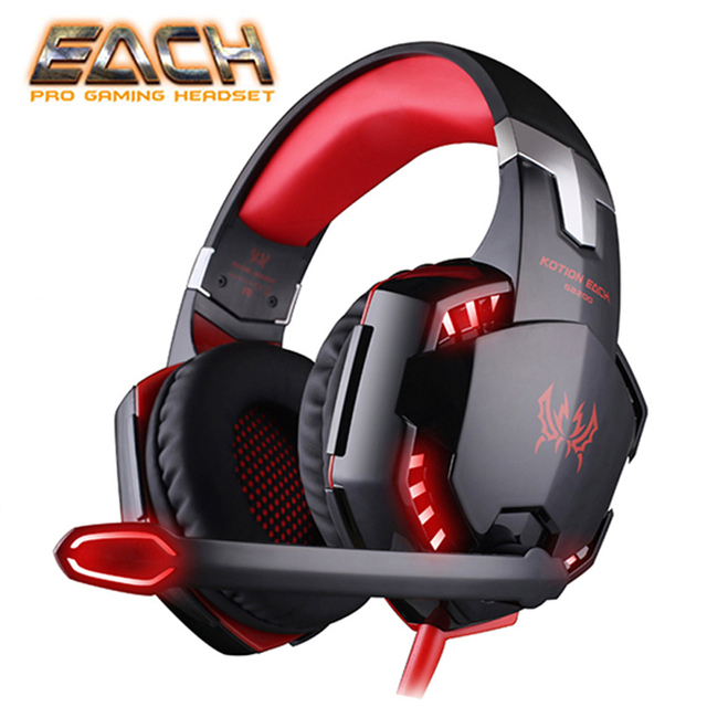 KOTION EACH G2200 USB Headphones Vibration 7.1 Surround Sound And G2000 3.5MM Stereo Gaming Headset Light Headphone For Computer 1