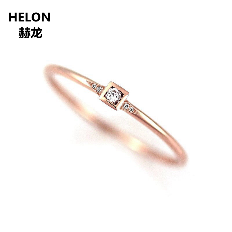 Solid 14k Rose Gold Natural Diamonds Engagement Ring for Women Anniversary Wedding Band Fine JewelrySolid 14k Rose Gold Natural Diamonds Engagement Ring for Women Anniversary Wedding Band Fine Jewelry