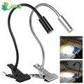 3 W Mini Portátil LED Libro de Lectura de Luz de cuello de Cisne Flexible Tubo de Alimentación USB LLEVÓ Mesa Lámpara de Escritorio Clip de Metal Ajustable en