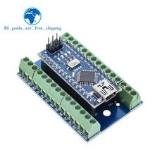 NANO V3.0 3.0 Controller Terminal Adapter Expansion Board NANO IO Shield Simple Extension Plate For Arduino AVR ATMEGA328P(China)
