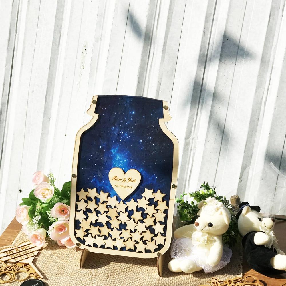 Personalised Wedding Guest book Custom Drop top Drop box wedding Decoration alternative Guest Book Rustic Birthday