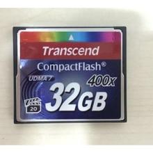 100% Transcend Original 400X 32GB Profissional de Cartões de Memória Real Capacidade Do Cartão CF Compact Flash Para DSLR Camera HD 3D vídeo 32G