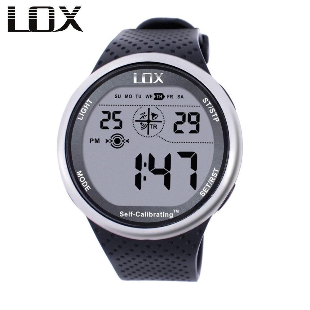LOX самокалибровка интернет синхронизации для мужчин спортивные часы водостойкий 100 м цифровые часы одежда заплыва дайвинг наручные часы ...