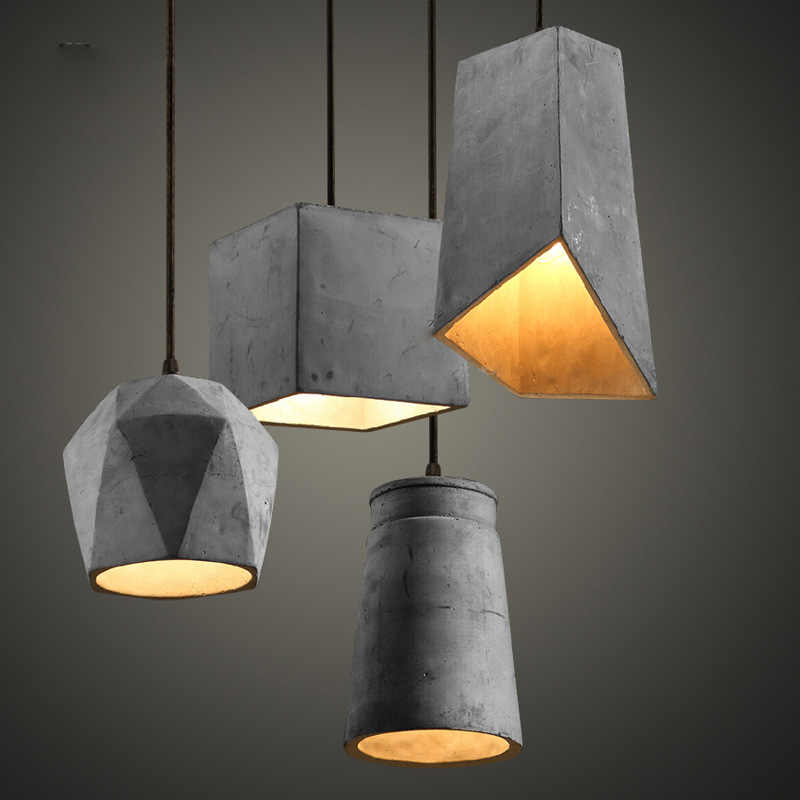 American retro creative Cafe dining room Pendant Lamp bar chandelier modern personality concrete Chandelier