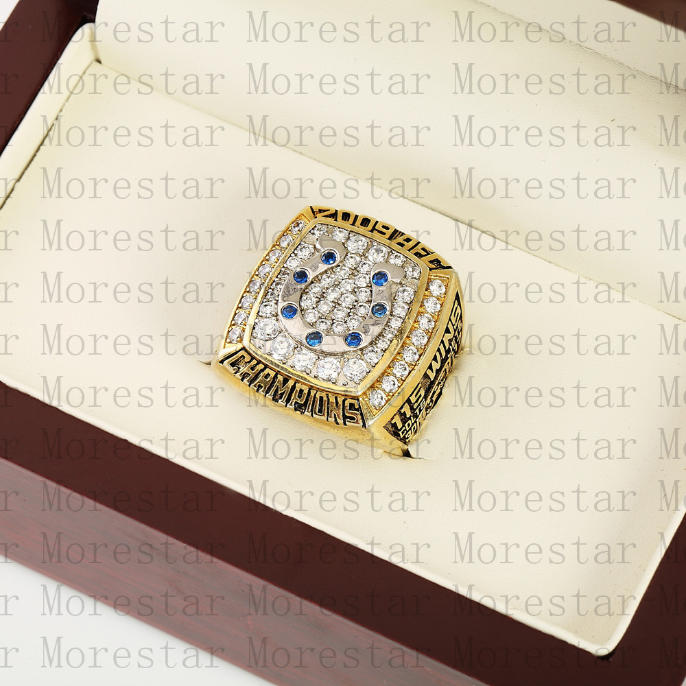Costume replica Cooper ring for 2009 AFC Indianapolis Colts Ch&ionship Ring size 10 13!FREE SHIPPING!-in Rings from Jewelry u0026 Accessories on ... & Costume replica Cooper ring for 2009 AFC Indianapolis Colts ...