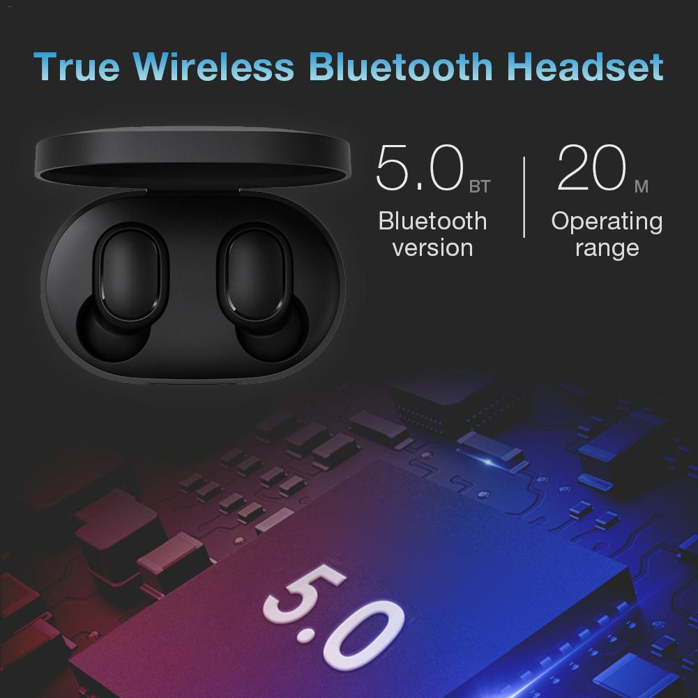 For AirDots True Wireless Bluetooth Headset Earbuds In Ear Sports Running Mini For Redmi Bluetooth True Wireless Headset in Bluetooth Earphones Headphones from Consumer Electronics