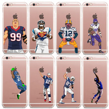 Phone Case NFL American USA Football Super Players hard Cases For iPhone 5 5s SE 6 6S 7 7Plus 6SPlus Clear Protective Back Cover