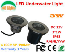 4PCs/Lot Single color 3W LED Underwater Lights AC/DC 12V IP68 Waterproof Underground Lamps Outdoor Swimming Pool Lamp CE RoHS direct selling 14w led underground lamp dc24v ip68 waterproof 2 years warranty ce rohs outdoor spotlight