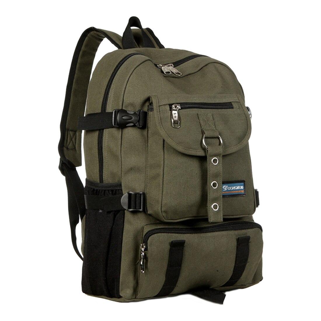 DONGNUO New Fashion arcuate shoulder strap zipper casual bag backpack school bag canvas bag for men school portable hand strap zipper closure files document bag black