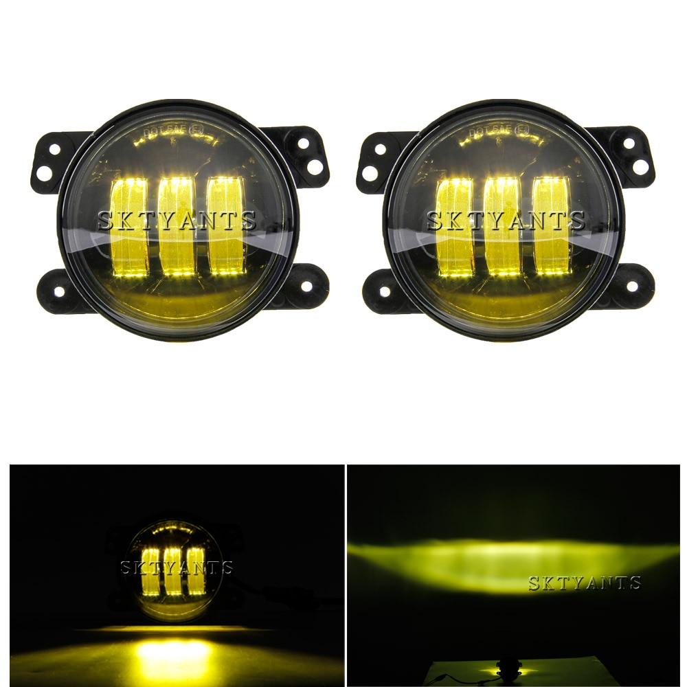 30 W 4 Ambra colore luci di nebbia lampade In Alluminio Pressofuso Borsette per 2007 2016 Je ep wra ngler JK 2 Door/2009 2013 Dodge Journey