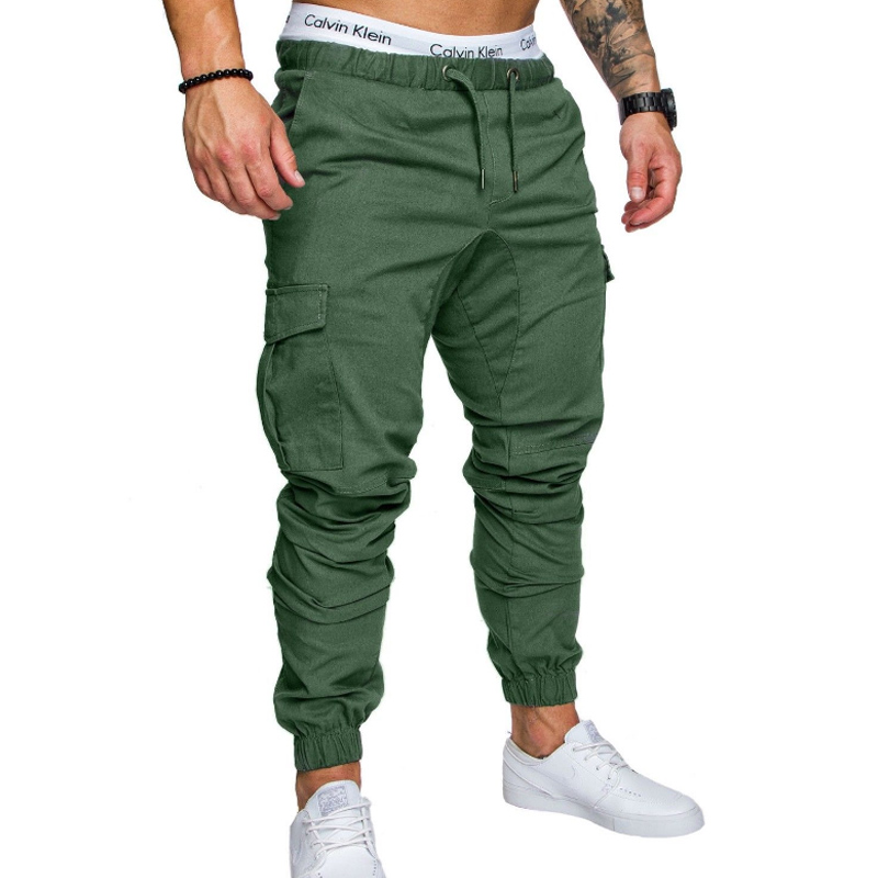 Mans Cotton Jogger Sweatpants Clef in Fire Pants with Pockets