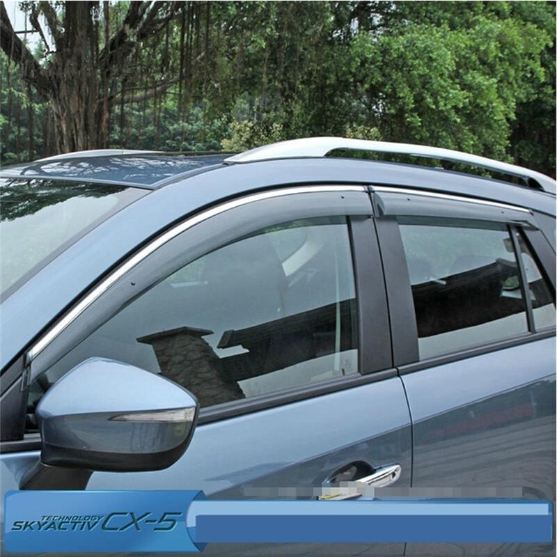 Car-Styling Accessories For Mazda CX-5 2012-2014 2015 2016 Window Visor Shades Awnings PP+Stainless Steel 4pcs/set Shelters