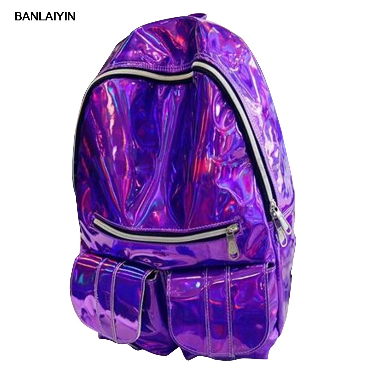 Women Gammaray Hologram Backpack Shoulder Bag School Travel Bag