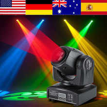 2Pcs 30W LED Moving Head Stage Light RGBW Stage Decor Lightings DMX512 DJ Disco Light Pub Party Effect Lights EU Plug 220~240V(China)