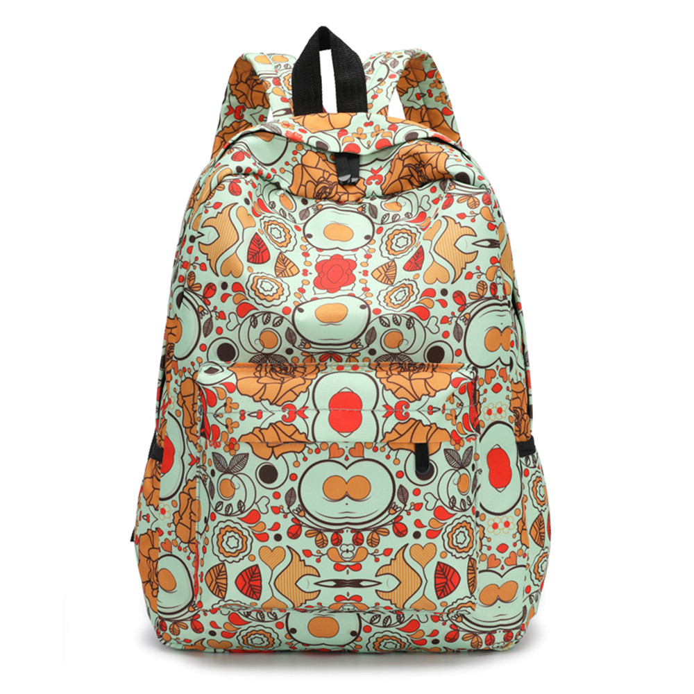 2018 Fresh Style Women Backpacks lovely Floral Print Bookbags Female Travel Backpacks Mochila Feminina sac a dos