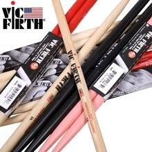 Vic Firth – baguettes de tambour Hickory 5A, 5B, 5B, 7A, originales fabriquées aux états-unis, plusieurs couleurs