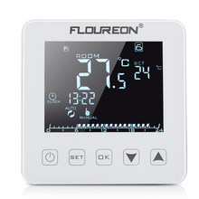 Floureon HY08WE-2 Touch Screen Electric Heating Thermostat 16A LCD Display Temperature Controller for Electric Floor Heating(China)