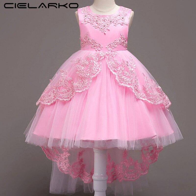 Cielarko sirena vestido formal fiesta de cumpleaños de niños niñas ...