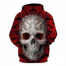 Hot hoody Blue 3d Skull Hoodies Men Women Fashion Winter Spring Sportswear