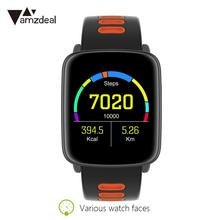 Pedomete Heart rate Tracker IP68 waterproof Phone Call MTK2502 Bluetooth wearable devices smart watch for Android iOS Gift
