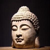 63cm Large Size Buddha Statue Resin Sakyamuni Tathagata Figurine Resin India Buddha Head Garden Home Statue Crafts Decorative