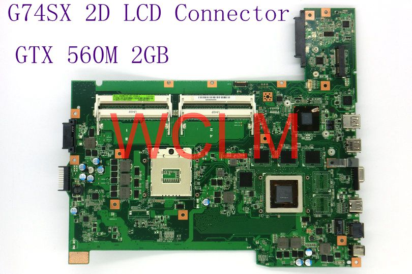 G74SX GTX560M 2GB 2D LCD Connector mainboard For ASUS G74S G74SX laptop motherboard HM65 60-N56MB2700-B17 100% Tested free shipping new brand original g74sx laptop motherboard g74sx main board gtx560m 2d lcd connector n12e gs a1 100