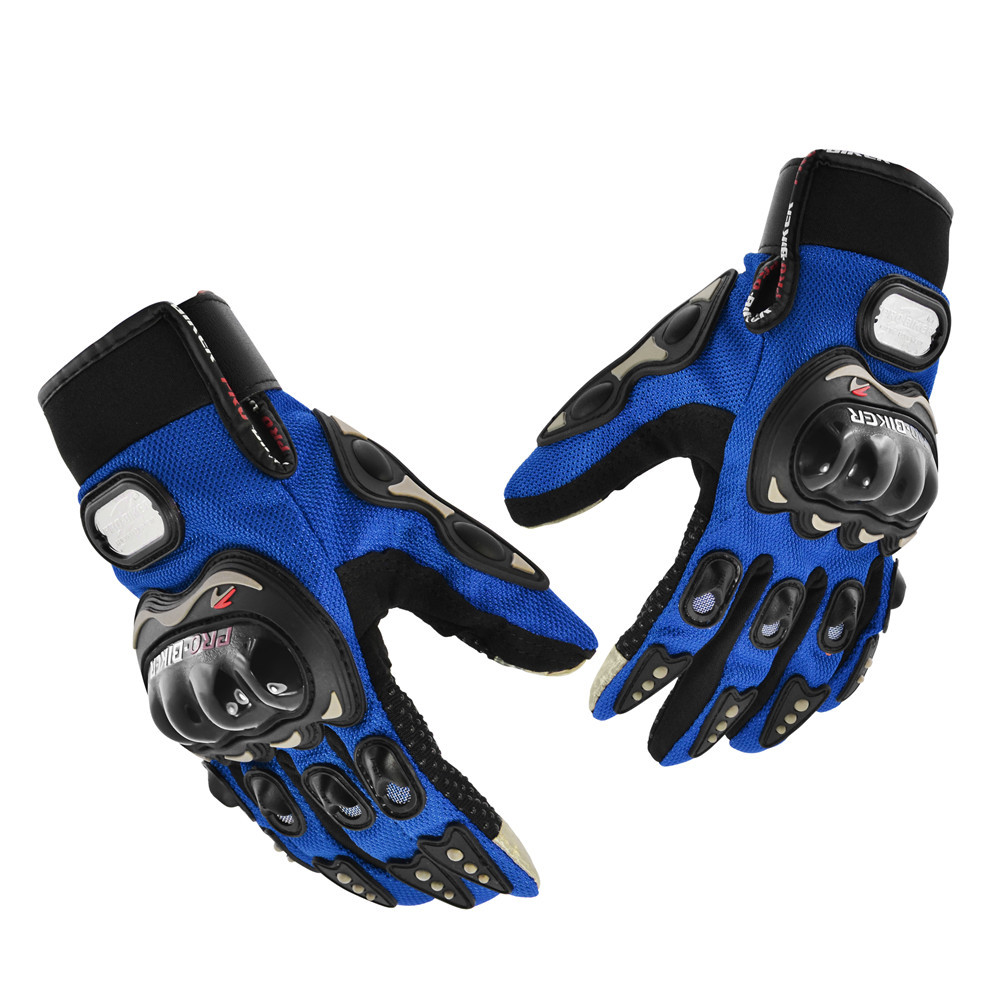 PRO-BIKER Motorcycle Gloves Full Finger Knight Riding Motorcross Sport Gloves Cycling Washable Moto Guantes Glove Black M/L/XL