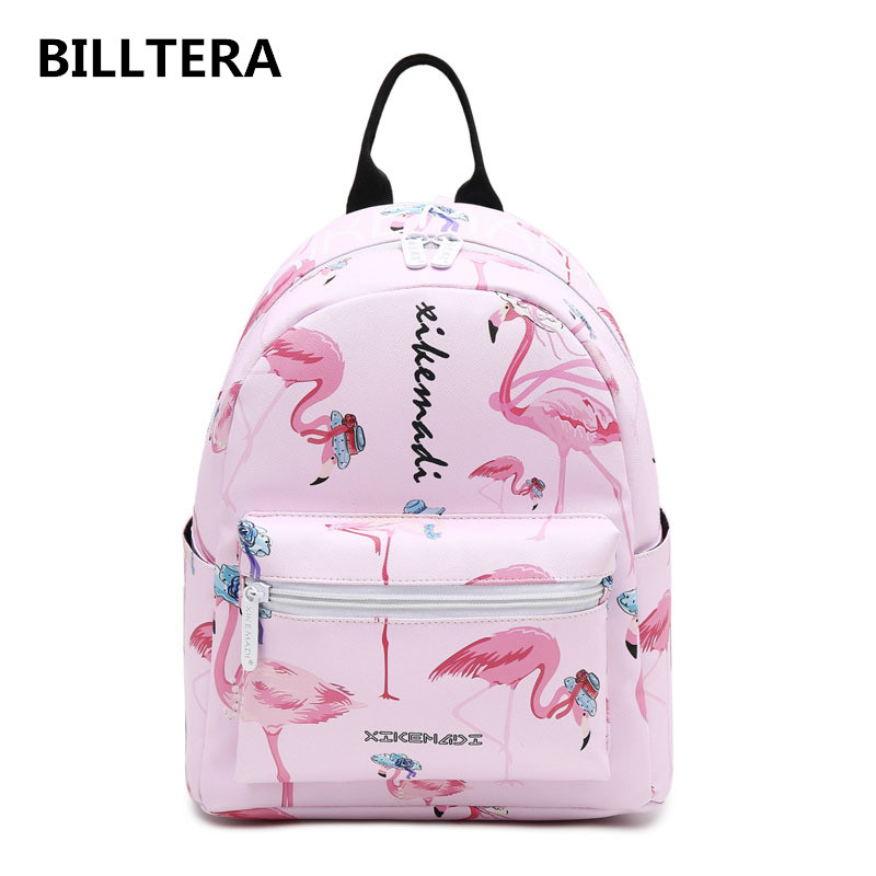 Fashion Brand Printed Panelled Double Shoulder Bag Women Simple Preppy PU Leather Backpack College Girl Shopping Small Backpacks 2017 fashion women waterproof oxford backpack famous designers brand shoulder bag leisure backpack for girl and college student