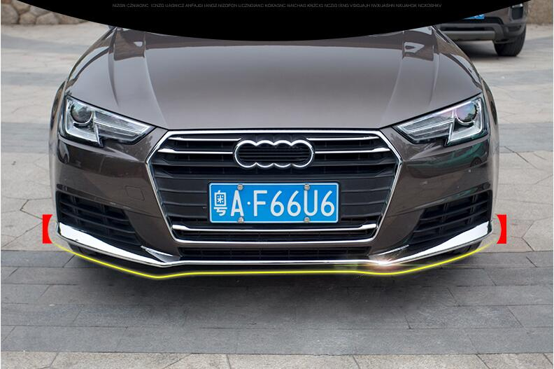 3PCS/SET Front Bumper Protector Guard Lid Molding Cover Trim For <font><b>AUDI</b></font> <font><b>A4</b></font> <font><b>2017</b></font> 2018 Free by EMS image