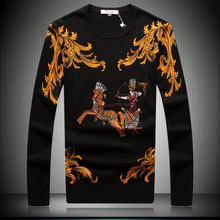 FWS001 Man fashion modal knitted sweater/cotton knitted printing sweater/5size