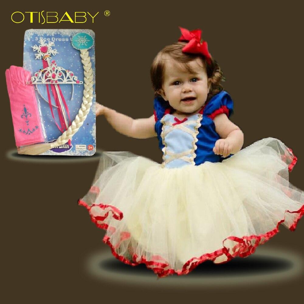 Baby Girls Snow White Dress Fancy Tutu Dress for Children Toddler Girls Summer Clothing Baby Birthday Party Dress Frocks